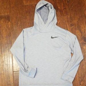 Grey Dry Fit Nike Boys long sleeved shirt